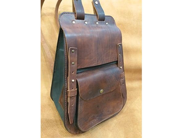 """Кожаный рюкзак ручной работы - """"Крутяк"""""""